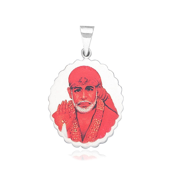 Taraash 925 Sterling Silver Divine Saibaba Pendant For Men PD2207S