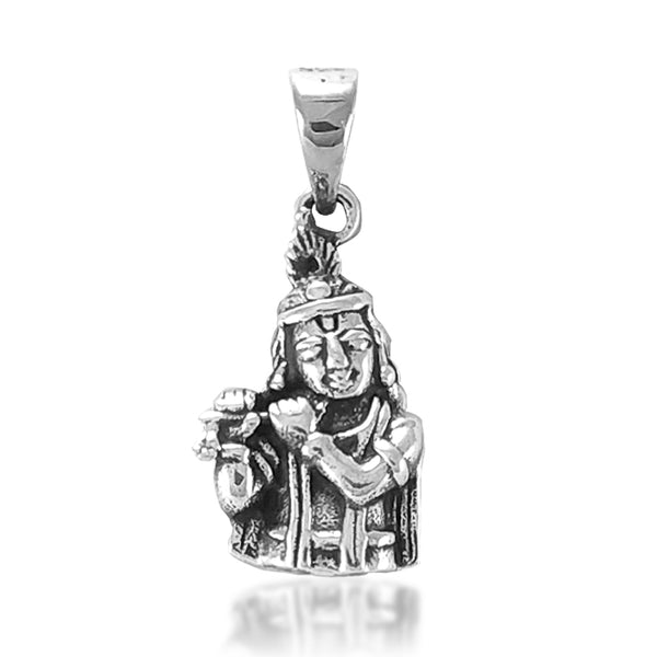 Taraash 925 Sterling Lord Krishna Silver Pendant For Men and Boys