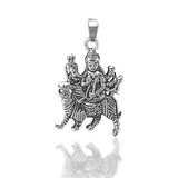 Taraash 925 Silver Antique Mataji Pendant For Men