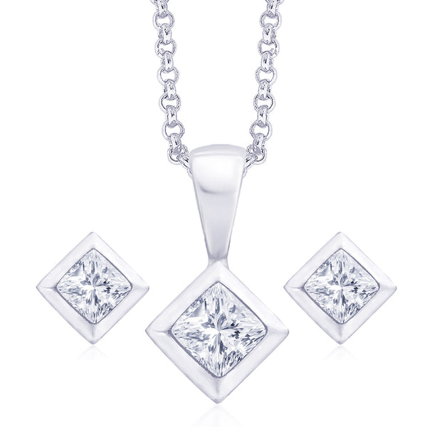 Taraash 925 Sterling Silver  Pendant Set  For Women Silver-PE0826S