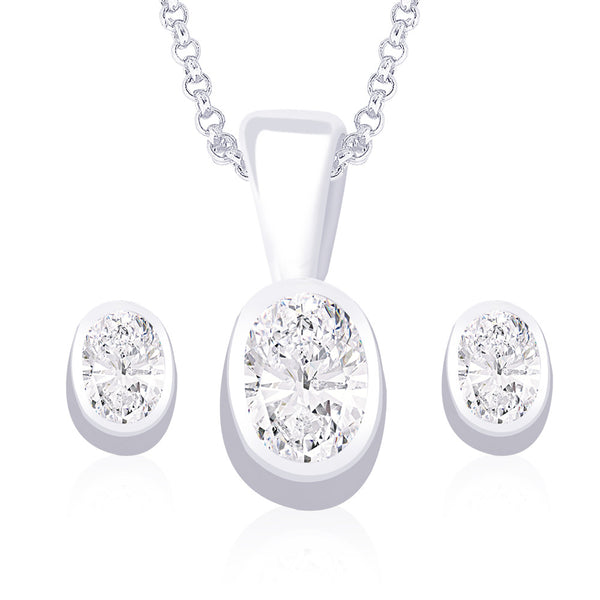 Taraash 925 Sterling Silver  Pendant Set  For Women Silver-PE0827S