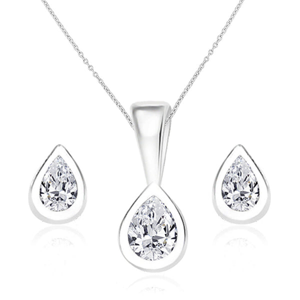 Taraash 925 Sterling Silver  Pendant Set  For Women Silver-PE0829S