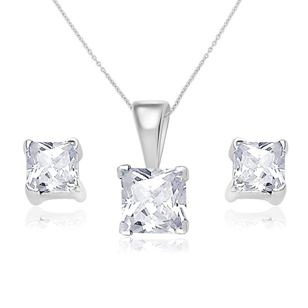 Taraash 925 Sterling Silver  Pendant Set  For Women Silver-PE0832S