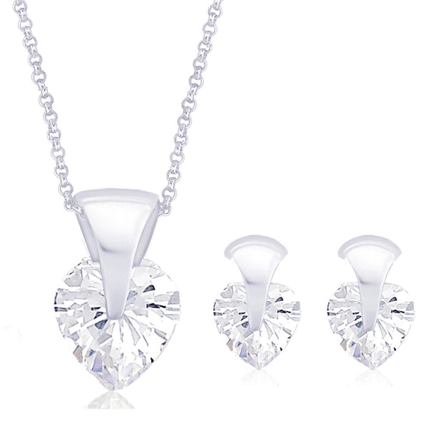 Taraash Sterling-Silver Pendant Set For Women Silver - PE1038S