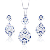Taraash 925 Sterling Silver Heart Pendant set for women PE1235S