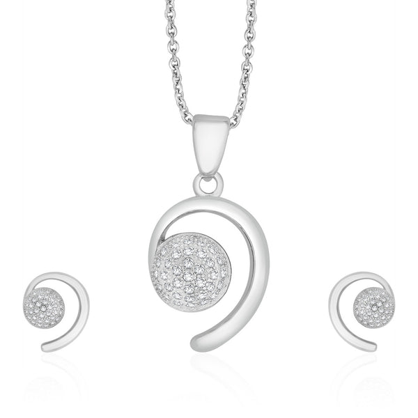 Taraash Sterling Silver Marvelous Design Pendant Set Jewellery For Women PEM2004V