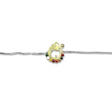 Taraash 925 Silver Gold Plated Ganeshji Rakhi Bracelet for Brother