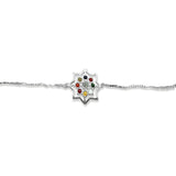 Taraash 925 Silver Designer Enamel CZ Rakhi Bracelet For Brother