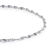 Taraash 925 Sterling Silver Fancy Chain Anklets For Women SDS5010H