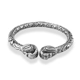 Taraash 925 Silver Antique Peacock Bangle for Women