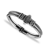 Taraash 925 Sterling Silver Antique 2 Layer Bangle for Women