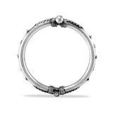 Taraash 925 Silver Designer Antique Bangle for Women