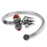 Taraash 925 Silver Shivji Trishul Damroo Kada For Men