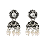 Taraash 925 Sterling Silver White Cz Tribal Collection Jhumki For women UMAE113