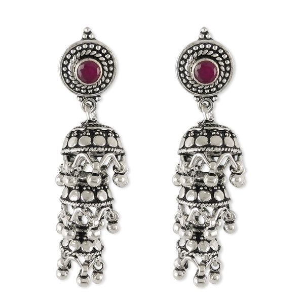 Taraash 925 Sterling Silver Round Design Jhumki For Women UMAE125