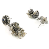 Taraash 925 Sterling Silver Floral Style Pearl Collection Jhumki Earrings For Women UMAE129
