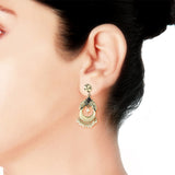 Taraash 925 Sterling Silver Floral Pearl Jhumki For Women UMAE97
