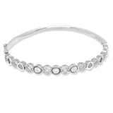 Blisse 925 Silver Round Design CZ Bangle For Women