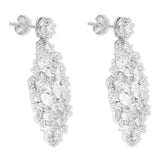Blisse 925 Silver Fancy CZ Drop Earring For Women