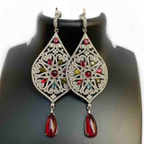 Blisse Allure Sterling Silver Multicolor ED CZ Earring For Women