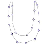 Blisse 925 Amethyst Stone Long Chain For Women