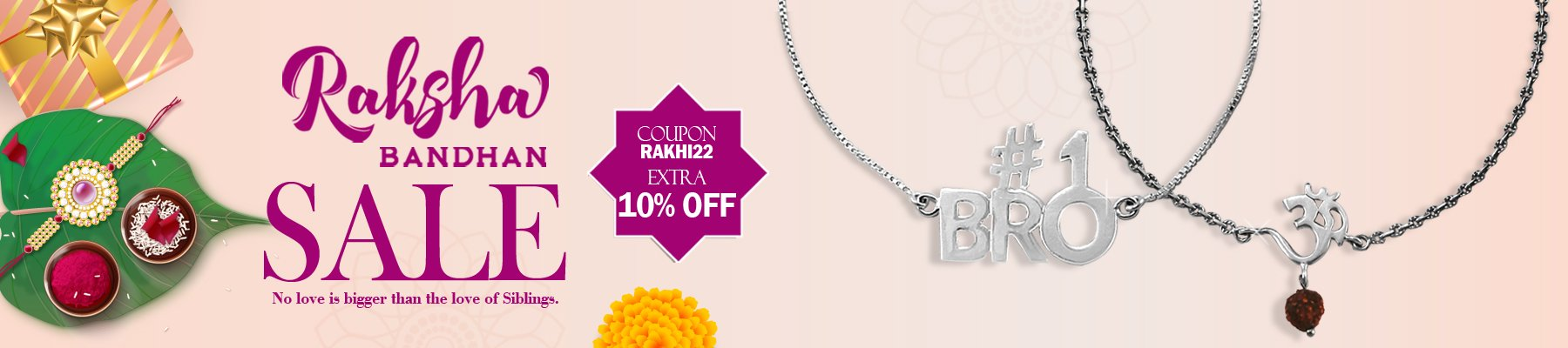 Taraash 925 Sterling Silver Rakhis