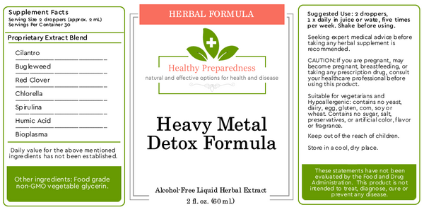 Heavy Metal Herbal Formula - 2 oz.