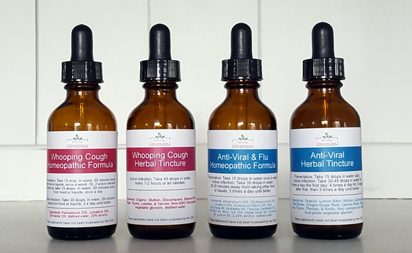 SAVE ON BOTH SETS! Anti-Viral/Flu & Whooping Cough Sets - 2 oz. bottles (limited supply until December)