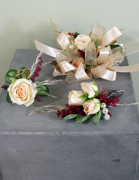 Fresh Floral Fashion Corsage, Boutonniere & Ring Set: Save the last Dance