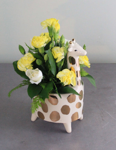 New Arrival Giraffe Fresh Floral Arrangement