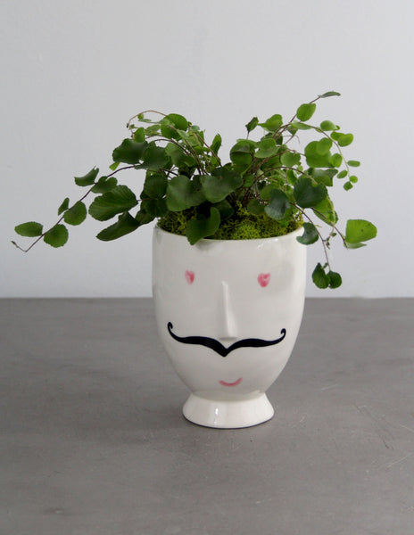 Monsieur with a Green Plant