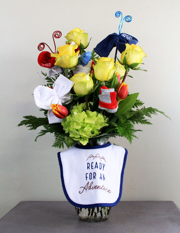 New Arrival BOY Fresh Floral Arrangement