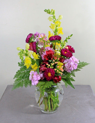 Playful Pink Fresh Floral Arrangement
