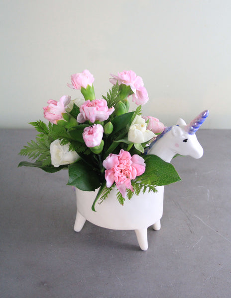 New Arrival Unicorn Fresh Floral Arrangement