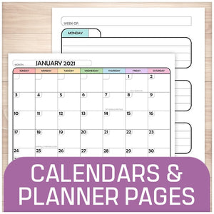 Calendars and Planner Pages