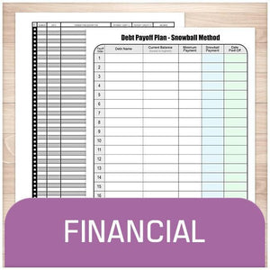 Printable Financial Sheets at Printable Planning