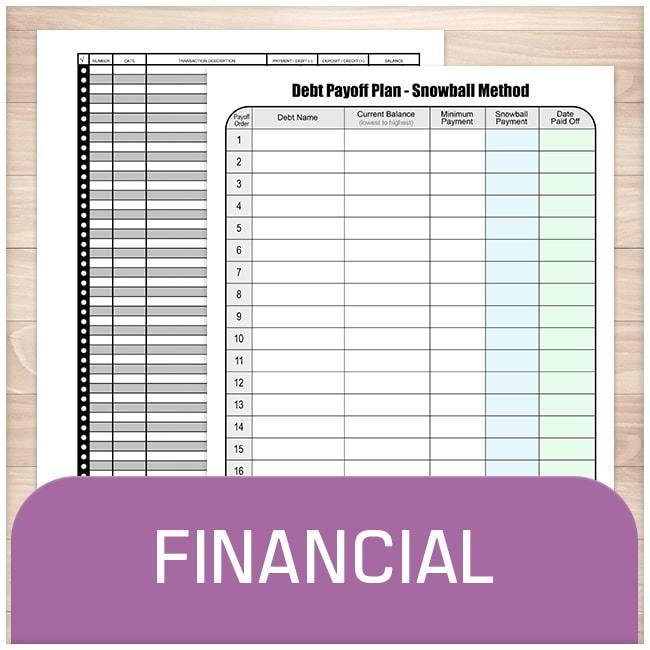 Financial Sheets