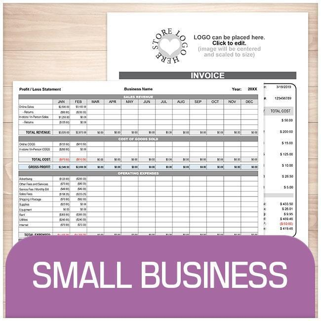 Small Business Sheets and Forms