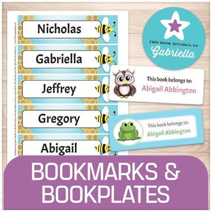 Bookmarks and Bookplates