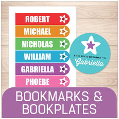 Printable Bookmarks and Bookplate Stickers