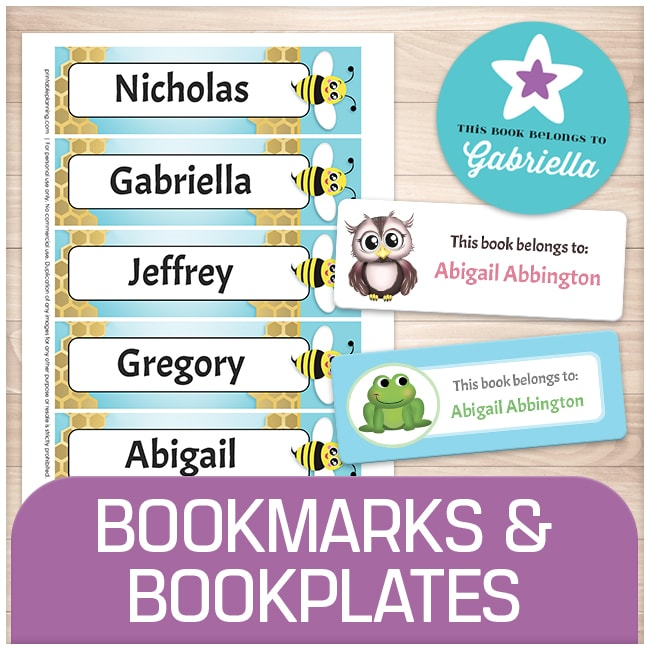 photo regarding Free Printable Bookplates for Adults referred to as Printable Bookmarks and Bookplates on the net at Printable Coming up with