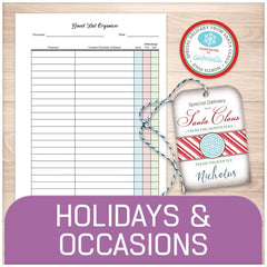 Printable Holidays and Occasions