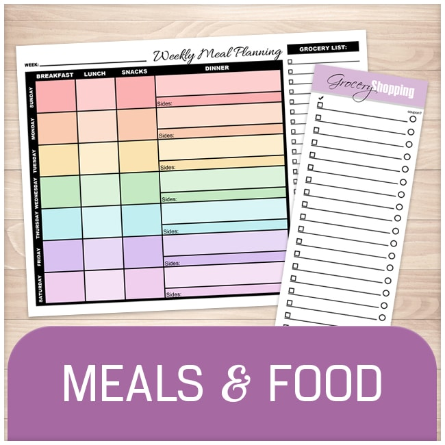 Meal Planners and Grocery Lists - Printable Planning