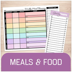 Meal Planning and Grocery Lists - Printable Planning