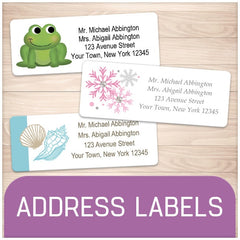 Printable Personalized Address Labels