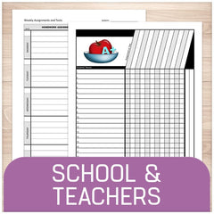 Printable School and Teachers Pages
