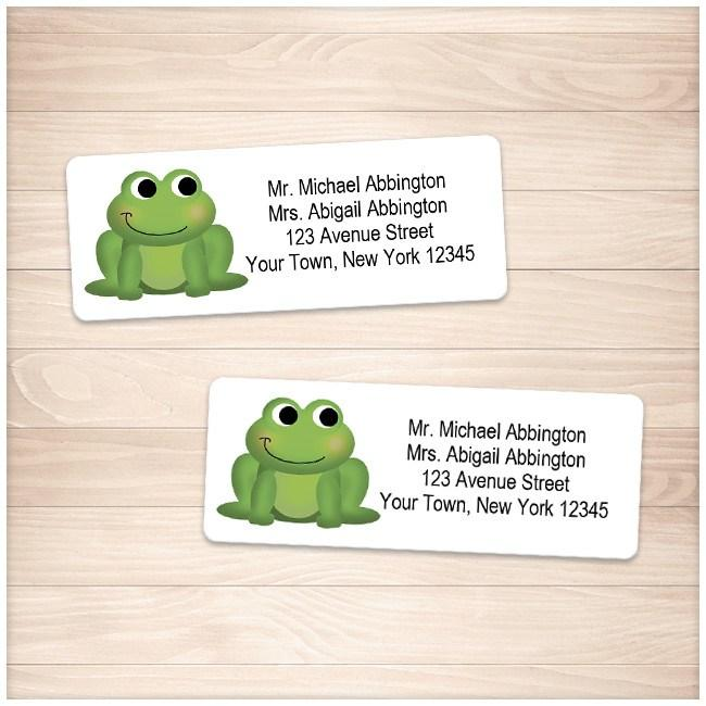 Adorable Green Froggy Address Labels - Printable Planning