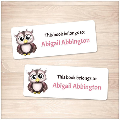 Adorable Owl Bookplate Labels for Name Labeling Books - Printable