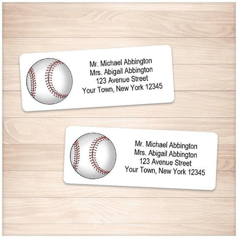 Athletic Sports Baseball Address Labels - Printable Planning