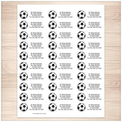 Athletic Sports Soccer Ball Address Labels 30up - Printable Planning